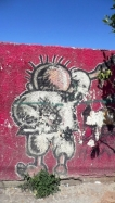 "Graffiti in Ramallah showing ""Handhala"""
