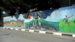 Mural in in the Aida refugee camp near Bethlehem