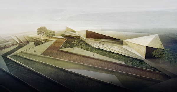 A rendering of the new Palestine Museum. Photo: Palestine Museum